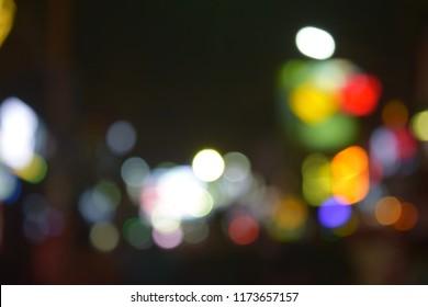 Colorful Night Bokeh