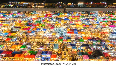 The Colorful Night Market Ratchada, also known as Talad Nud Rod Fai, is only a two-minute walk from the MRT.