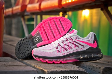 the best attitude 16cd8 14296 Colorful Nike Air Max 2015 running shoes, sneakers, trainers sole close up  view,