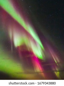 Colorful Northern lights - Aurora borealis in Norway.