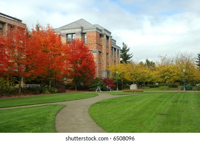 A colorful Northwest fall on campus