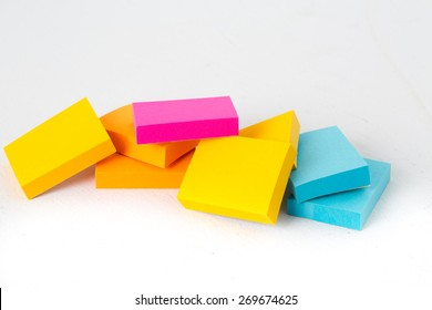 Colorful note pads.