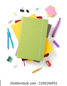 colorful notebook isolated at white background