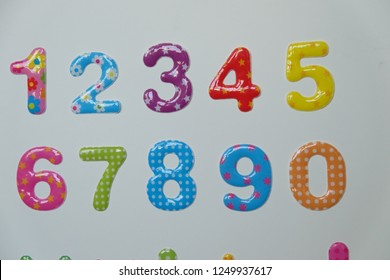 Colorful number in sticker style.