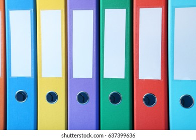 Colorful office folders background