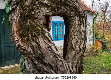 Colorful old Anabaptist house in Velke Levare (Slovakia)