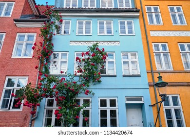 colorful, old and beautiful buildings in Copenhagen