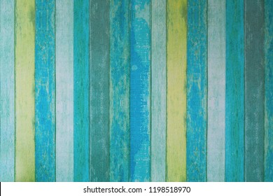 Colorful old blue , yellow and gray wood plank texture patterns for background or other