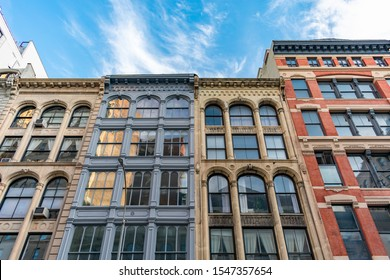 Colorful Old Buildings in Tribeca New York