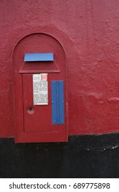 Colorful old town postbox, South Africa