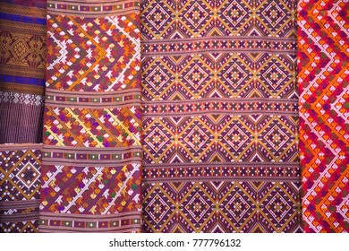 Colorful on fabric OTOP Products Thailand