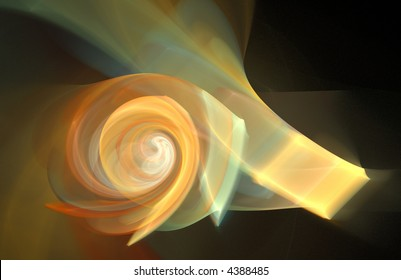 colorful orange flame fractal background