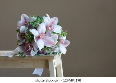 colorful orchid bucket
