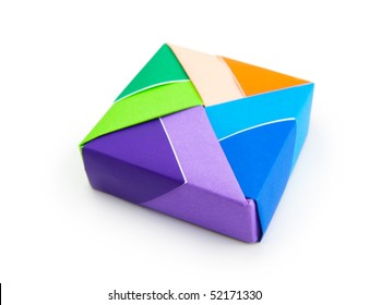 Colorful Origami box