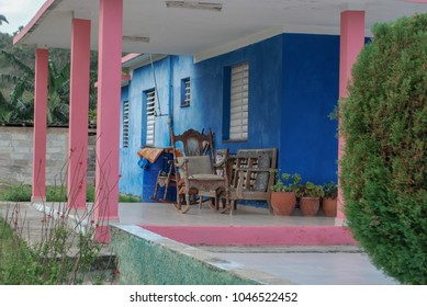 Colorful Outdoor Patio in Cuba