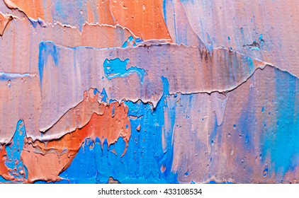 Colorful painted canvas as background. Art is created