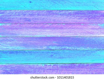 colorful painted empty wooden texture background, blue background