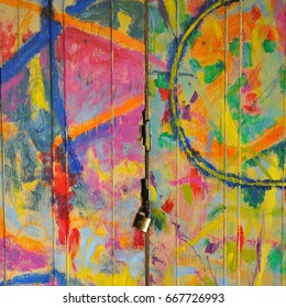 The colorful Painting door