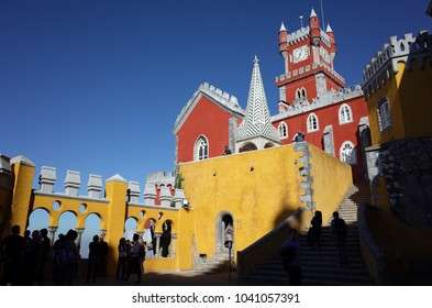 Colorful palace of Sintra