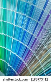 Colorful pantone fan top view.