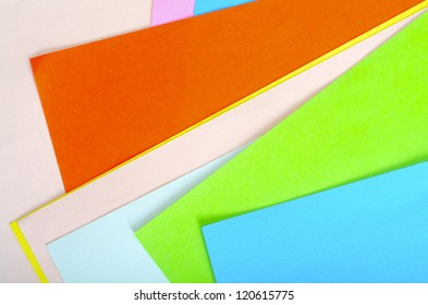 Colorful paper background with space for your text