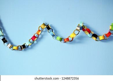 colorful paper chain