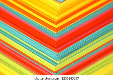 colorful paper closeup