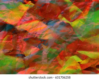 Colorful Paper Crumpled Abstract Background