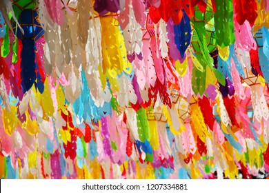 colorful paper lantern festival in north of thailand