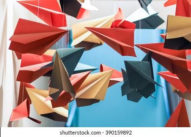 Colorful Paper Planes