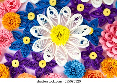 Colorful paper quilling flowers macro stock photo edit now colorful paper quilling flowers macro mightylinksfo