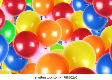 Colorful party balloons background