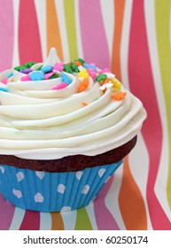 Colorful party cupcake