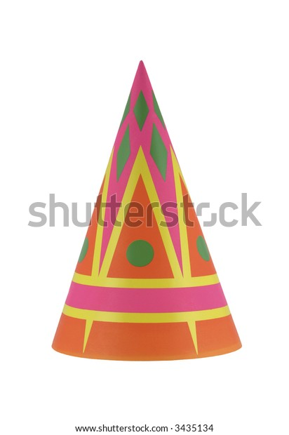 Colorful party hat with interesting geometric shapes