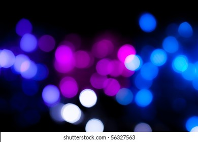 Colorful Party lights de-focused background