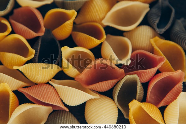 Colorful pasta / Background