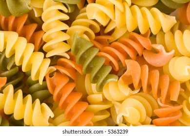 colorful pasta close up for background