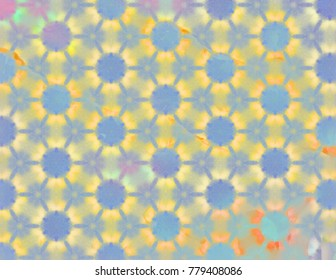 Colorful pattern fresh, cheery colors.