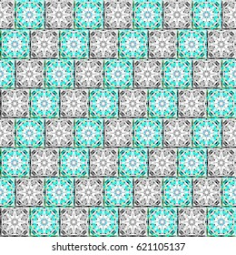 Colorful pattern for textile, tiles and design