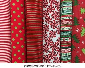 Colorful Patterned Christmas Holiday Fabrics