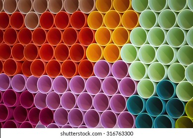 Colorful patterns of PVC pipe.