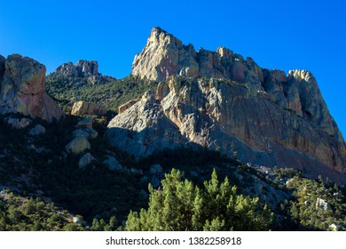 Colorful peak and cliffs in Arizona's Chiricahua Mountains