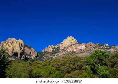 Colorful peaks and cliffs in Arizona's Chiricahua Mountains