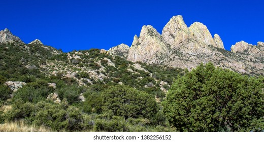 Colorful peaks at Organ Mountains-Desert Peaks National Monument in New Mexico