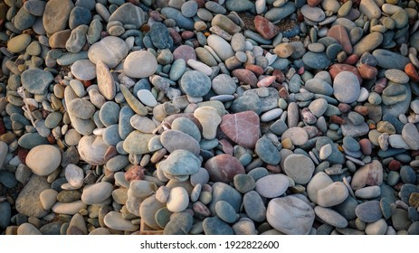 Colorful Pebble Stones with Texture Material for Background