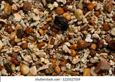 Colorful pebbles beach in Mirissa, Sri Lanka