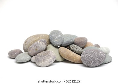 colorful pebbles isolated