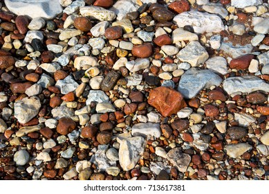 colorful pebbles texture
