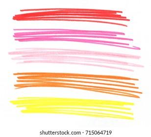 colorful pencil art stroke design