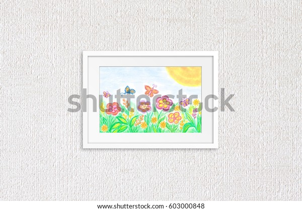 Colorful Pencils Drawing Kids Art Spring Stock Photo Edit